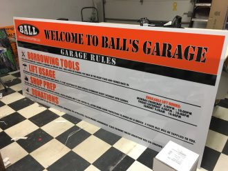 Balls Garage Sign 1 Orig