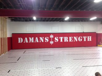 Damams Strength Wall Lettering 6 Orig